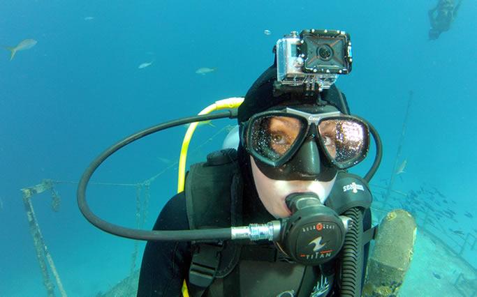 GoPro fixation masque de plongée